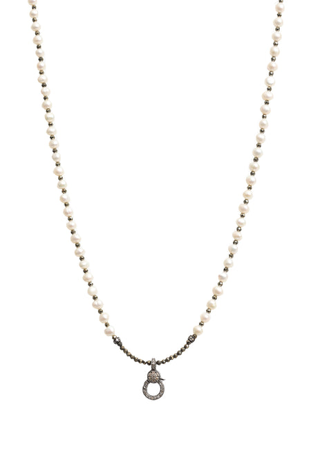14K Plated White Gold Butterfly Necklace