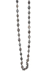 Oxidized Purple Silverite Stone Layering Chain