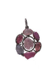 Oxidized Diamond & Tourmaline Flower