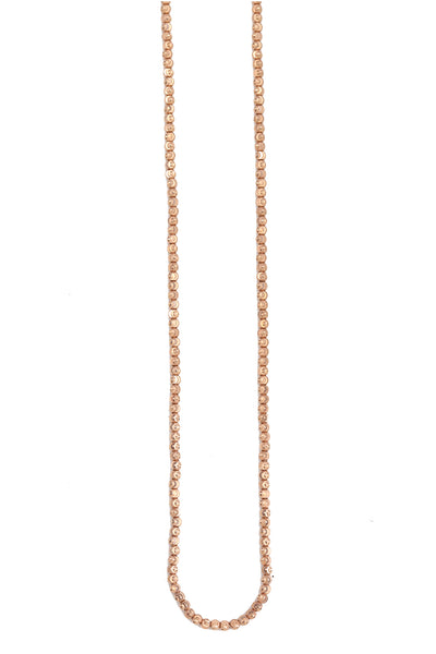 14K Rose Gold Italian Diamond Cut Chain