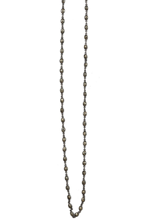 Oxidized Pyrite Stone Layering Chain