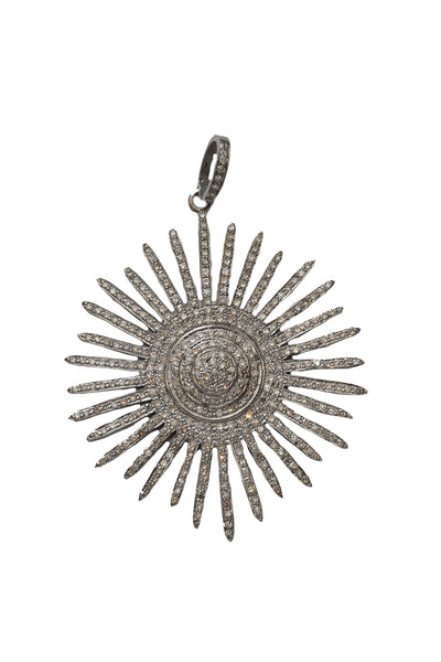 Oxidized Diamond Starburst Pendant
