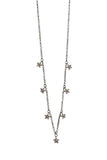 Oxidized 7 Diamond Star Necklace