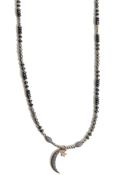 Oxidized Necklace with Charms