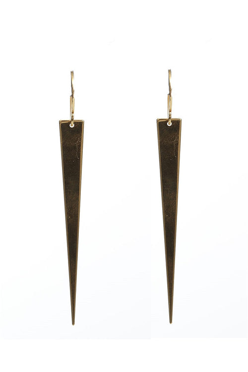 Long Triangle Dagger Earrings