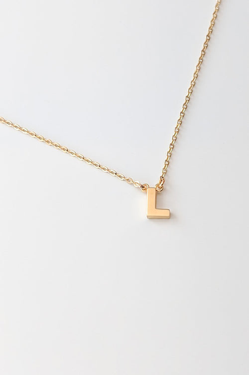Initial Necklace - L