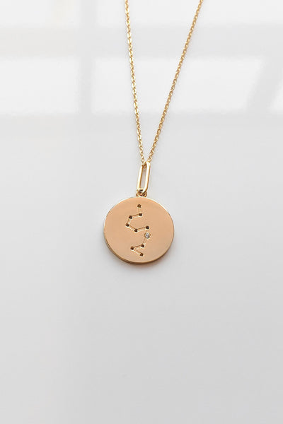 Constellation Charm Necklace - Leo