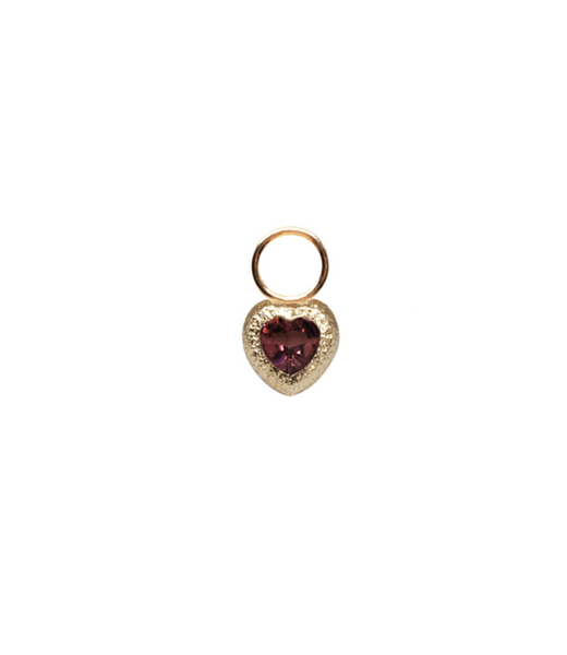 Grace Pink Heart Tourmaline Charm