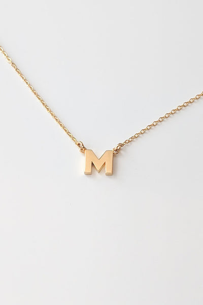 Initial Necklace - M