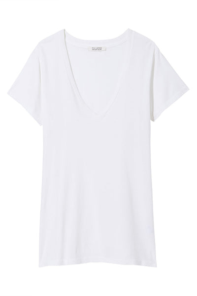 Carol Vneck Tee Shirt in White