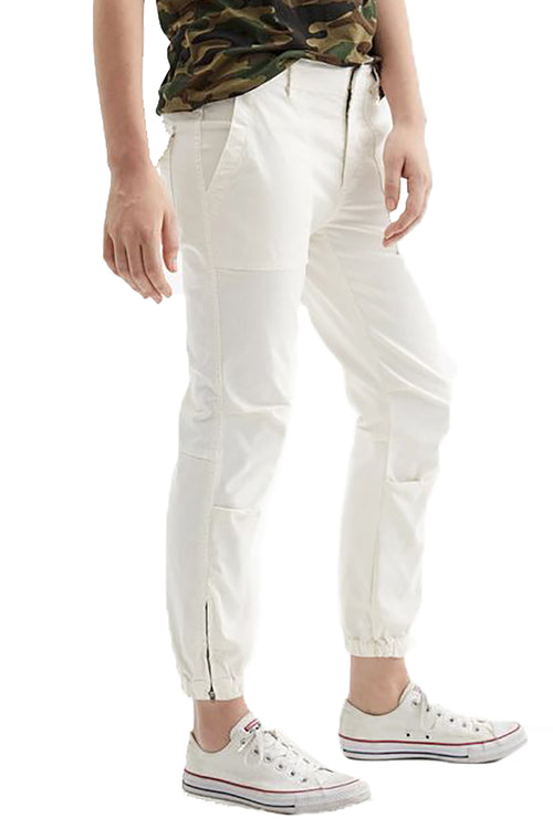 Cropped French Military Pant in Chalk