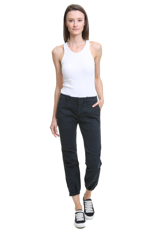 Cropped Military Pant in Navy