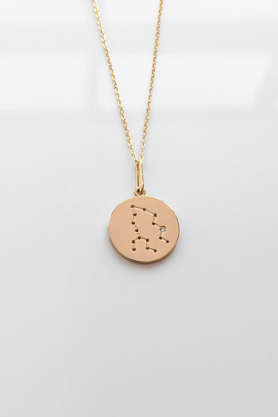 Constellation Charm Necklace - Pisces
