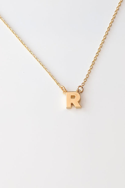 Initial Necklace - R