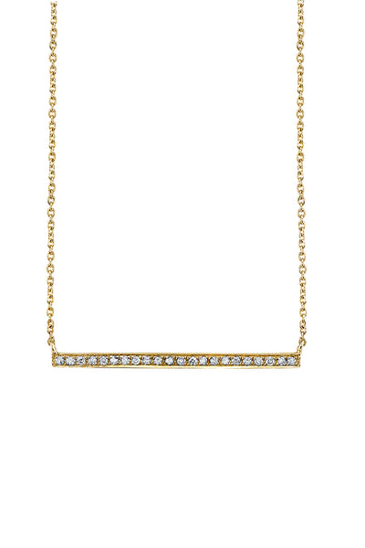 Pave Long Bar Necklace