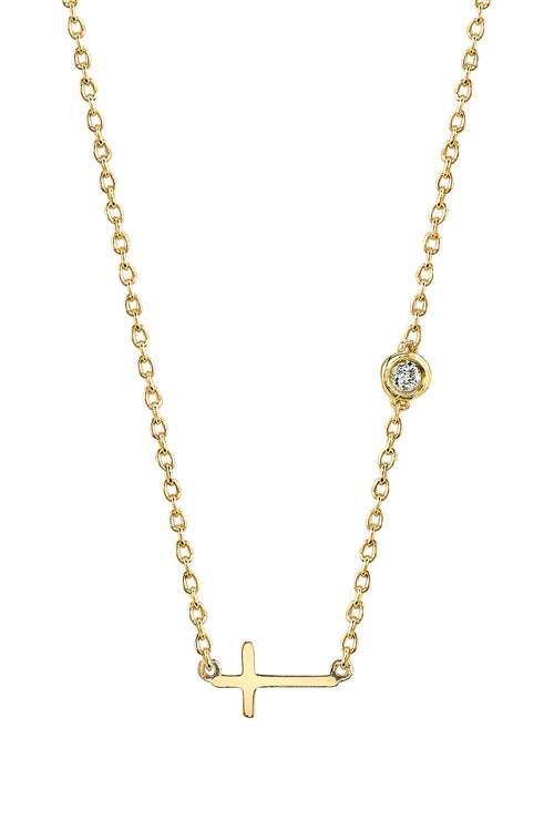 Cross Necklace in Yellow Gold