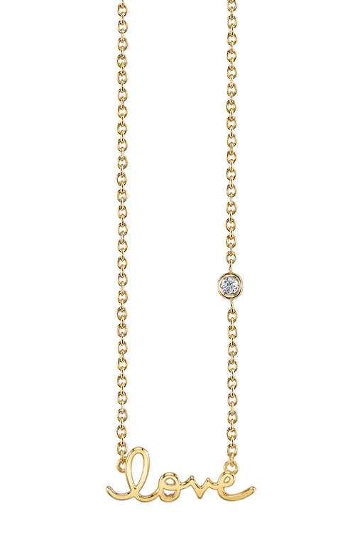 Love Necklace in Yellow Gold