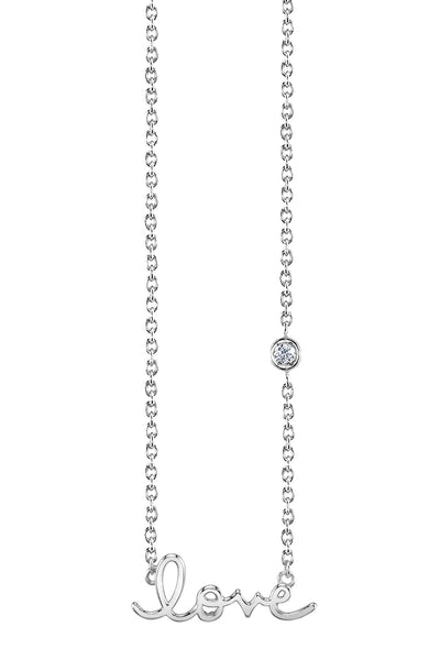 Love Necklace in White Gold
