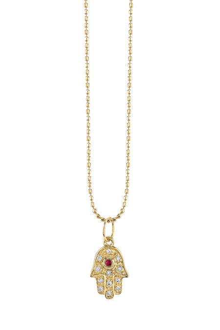 Gold and Pave Diamond 'S' Necklace