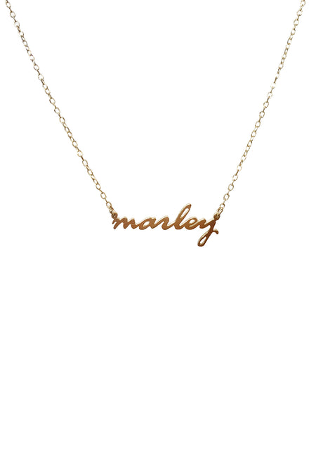 """L"" Necklace in Yellow Gold"