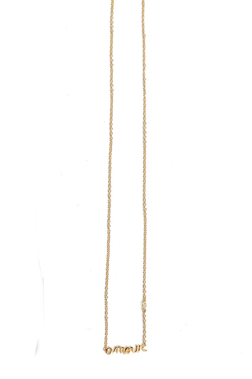 Amour Yellow Gold Necklace