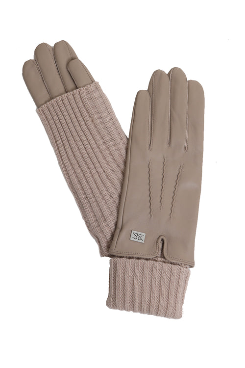 Carmel Leather Gloves in Fawn