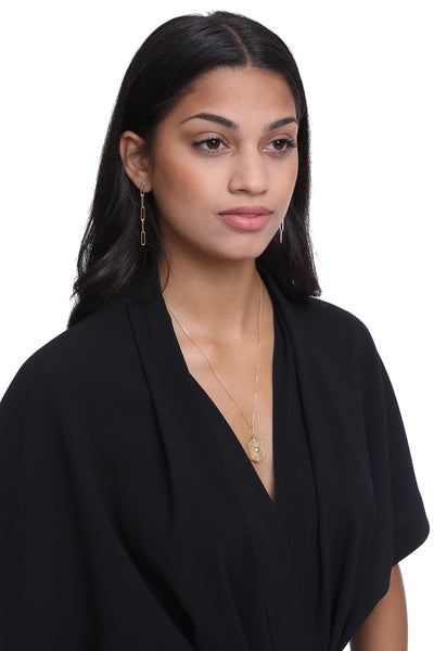 14K Gold Filled Paper Clip Chain Earrings