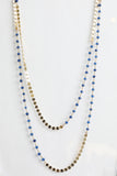 14K Gold Filled Chain & Faceted Sapphire Necklace