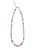 Multi Gemstone Faceted Rondell Necklace