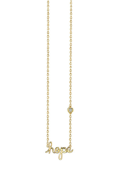Hope Necklace in Yellow Gold