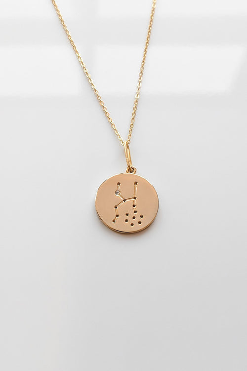 Constellation Charm Necklace - Taurus