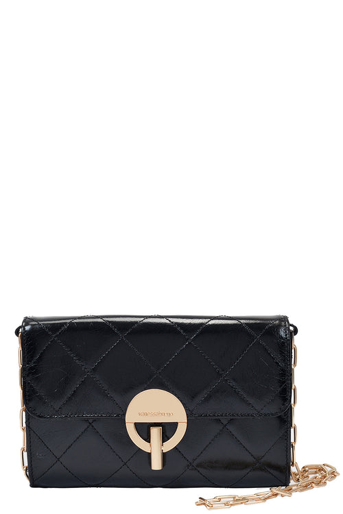 Moon Clutch in Noir