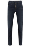 Debbie High Rise Ankle Crop Skinny Jean in Dark Ink