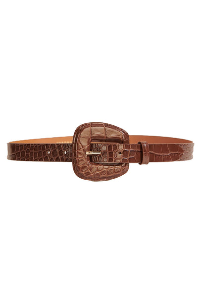 Elsy Embossed Leather Belt