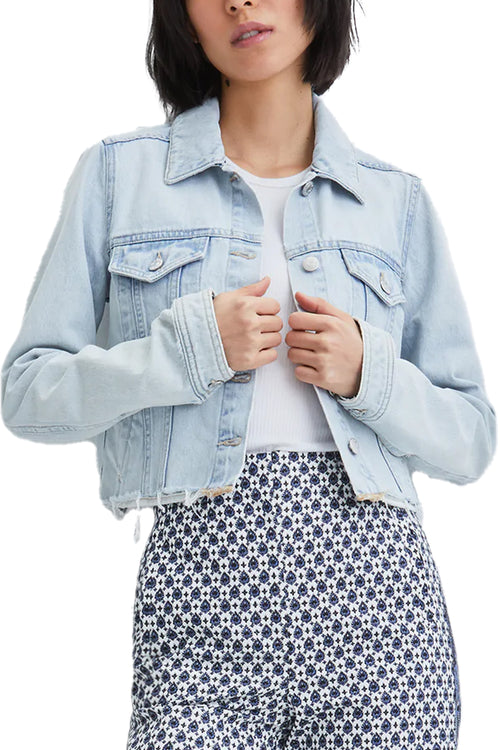 Shani Mixed Media Denim Jacket