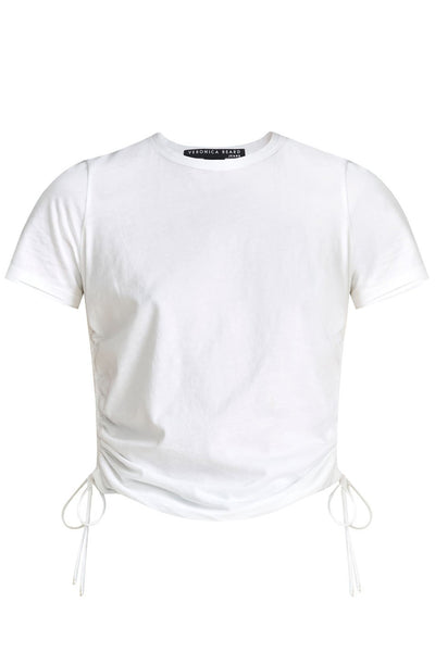 Tazi Ruched Tee in White