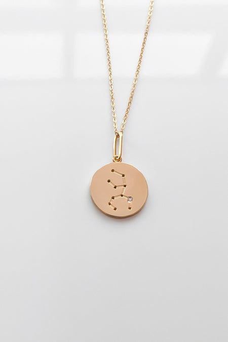 """H"" Necklace in Yellow Gold"