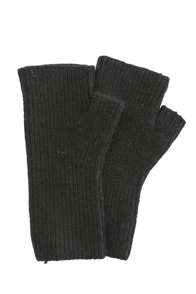 Cashmere Plush Rib Arm Warmer in Black
