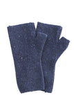 Cashmere Plus Rib Arm Warmer in Navy