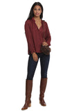 Tink Satin Tunic in Bordeaux