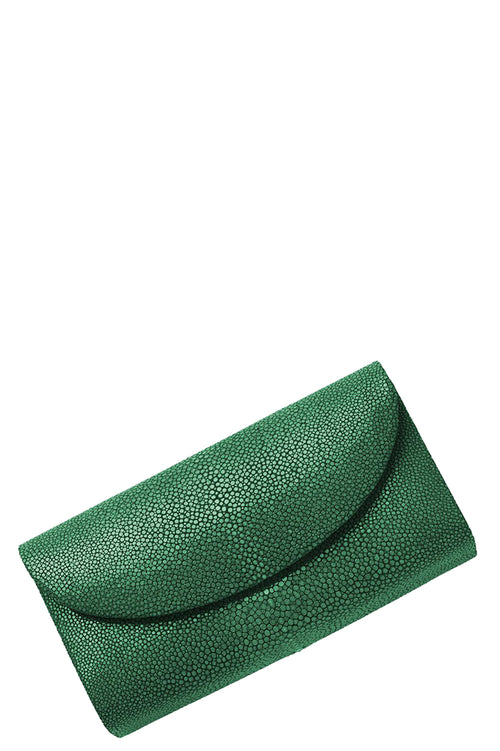 Baby Grande Stingray Clutch in Emerald
