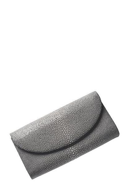 Baby Grande Stingray Clutch in Grey