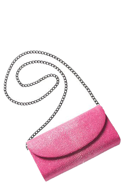 Baby Grande Stingray Clutch in Hot Pink