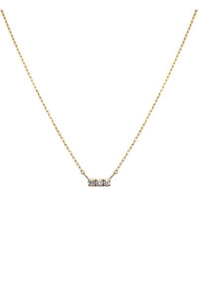 Olya White Diamond Bar Necklace