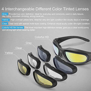 Non-Polarized Motorcycle Sport Sunglasses With Cushion