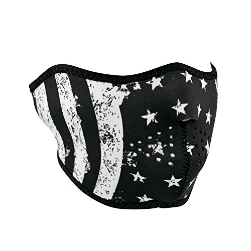 Black and White American Half Mask