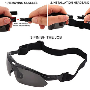 Polarized Motorcycle Sunglasses With 5 Lens
