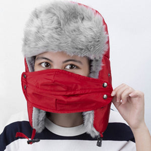 Winter Cap Balaclava Warm Russian Ski Hats With Cold Resistant Mask