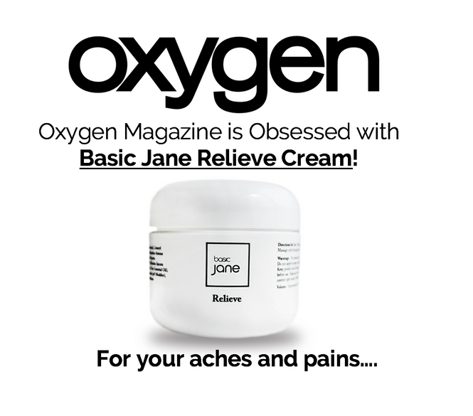 Oxygen Editor's Favorite Product: Topical pain relief cream with hemp-derived CBD and menthol.  On Laura's obsessed list.  Natural pain relief for arthritis, sprains and strains.  Use at gym.
