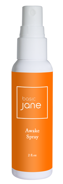 Awake Natural Topical Pain Relief Spray with Hemp-Derived CBD | Basic Jane